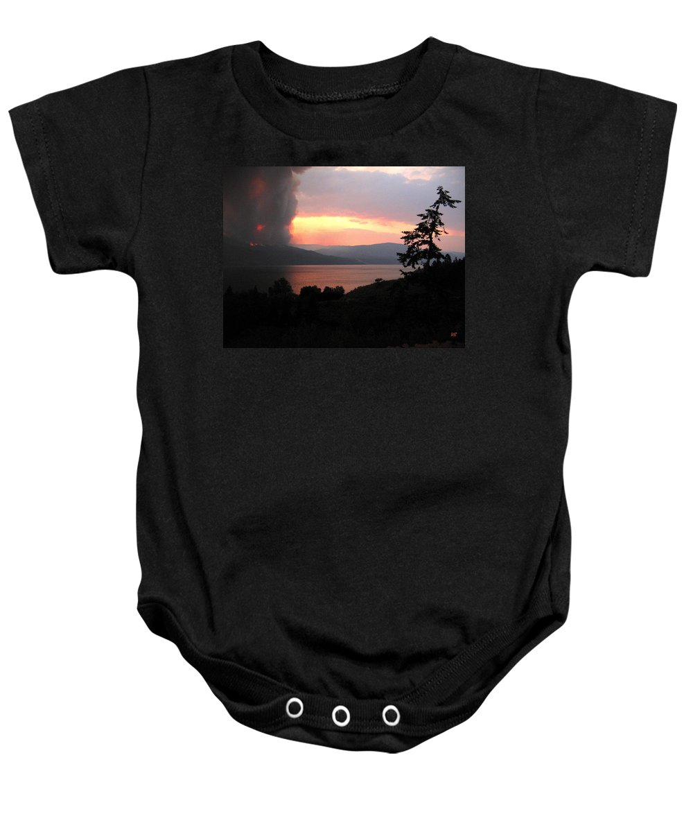 Forest Fire Baby Onesie featuring the photograph Terrace Mountain Fire 4 by Will Borden