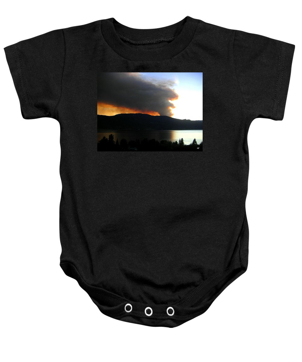 Forest Fire Baby Onesie featuring the photograph Terrace Mountain Fire by Will Borden