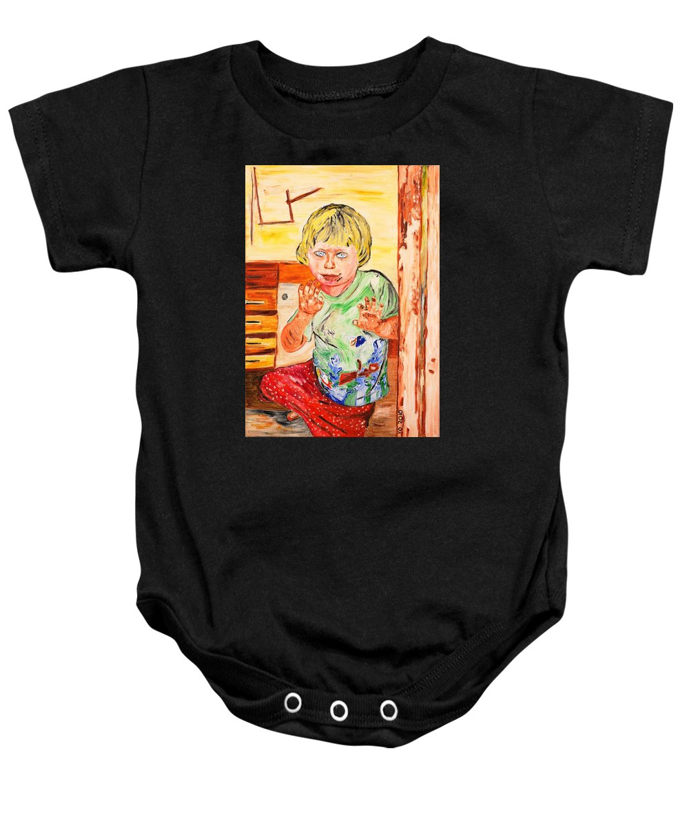 Kid Baby Onesie featuring the painting Terry by Valerie Ornstein