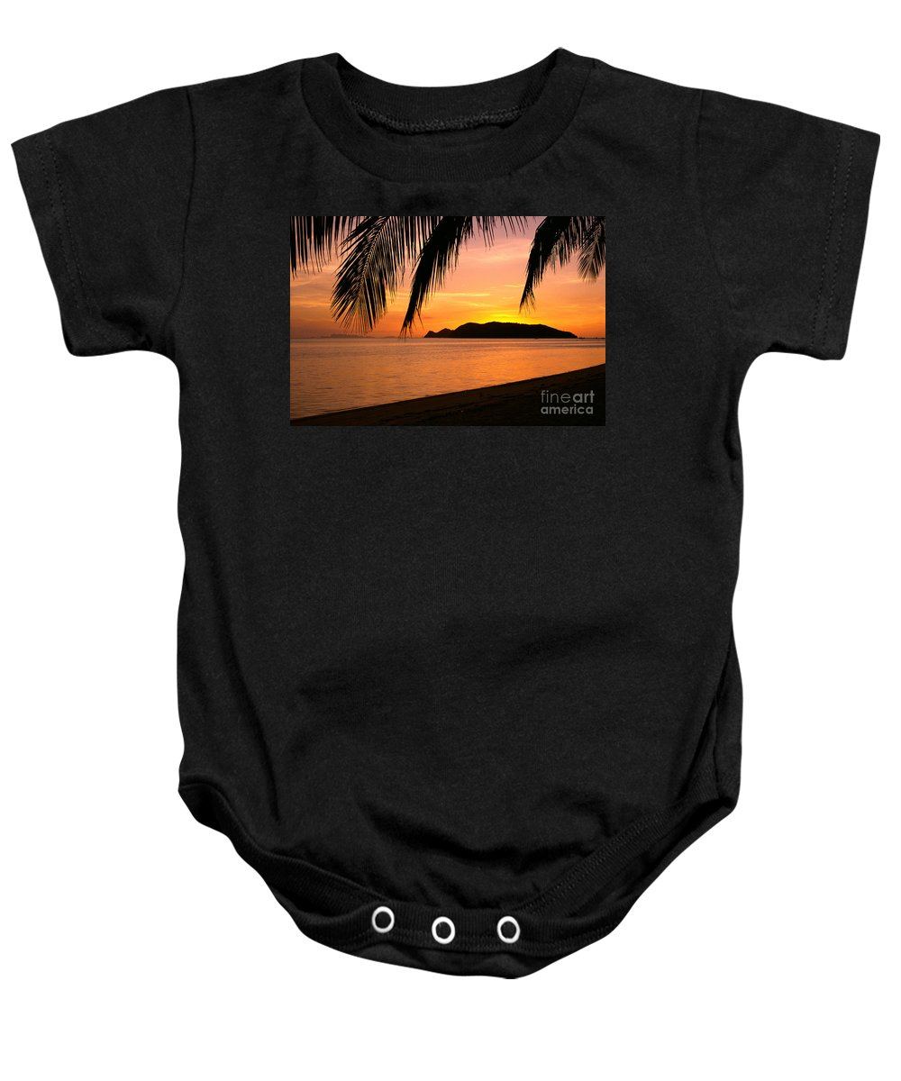 Asian Art Baby Onesie featuring the photograph Thailand, Koh Pagan by William Waterfall - Printscapes