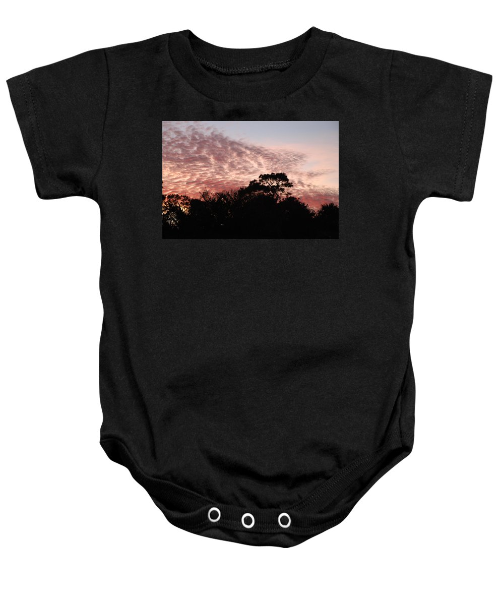 Sky Baby Onesie featuring the photograph Thanksgiving Sky by Rob Hans