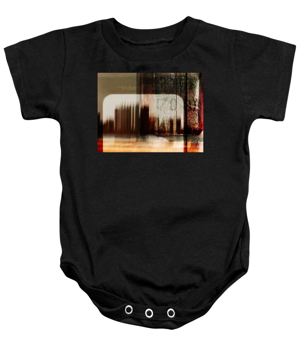 Dipasquale Baby Onesie featuring the photograph That Day In The City When We Lost Track Of Time by Dana DiPasquale