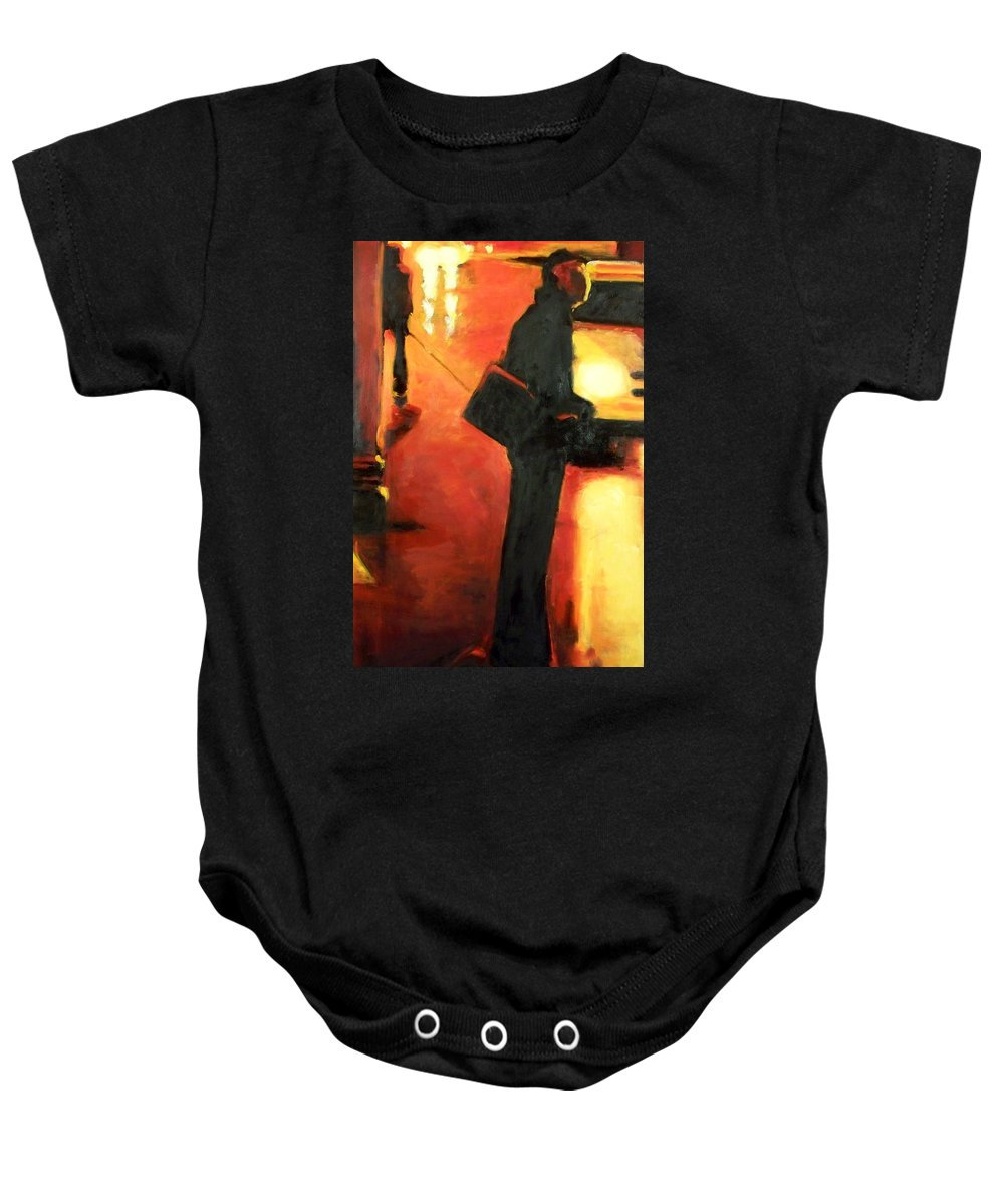 Rob Baby Onesie featuring the painting That First Step by Robert Reeves