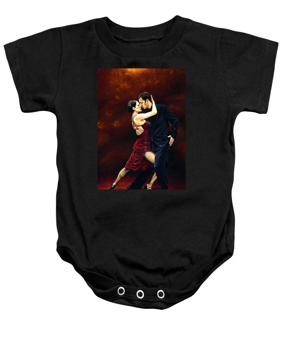 Tango Baby Onesie featuring the painting That Tango Moment by Richard Young