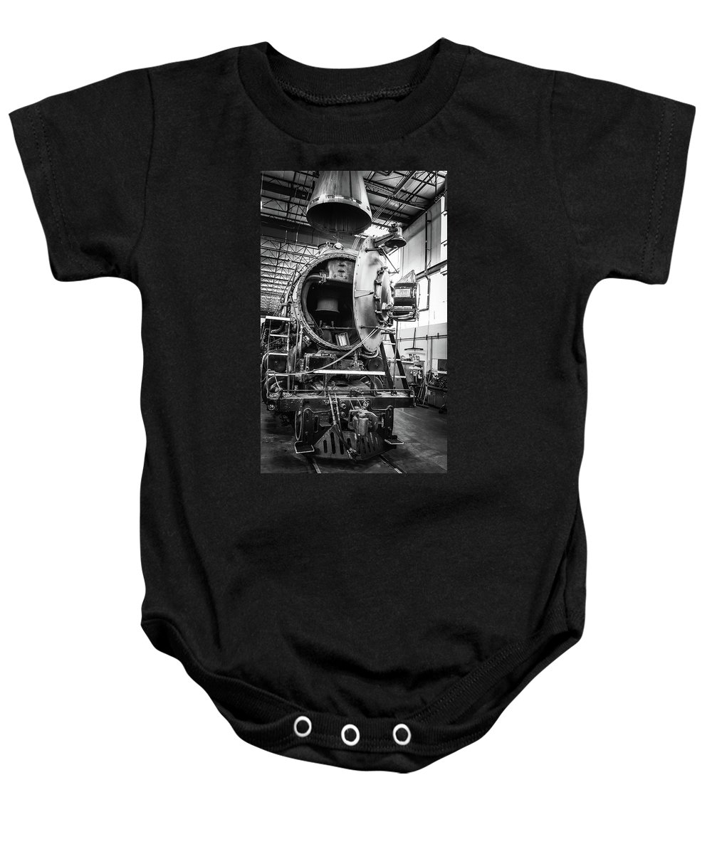 Train Baby Onesie featuring the photograph The 700 by Melissa Coffield