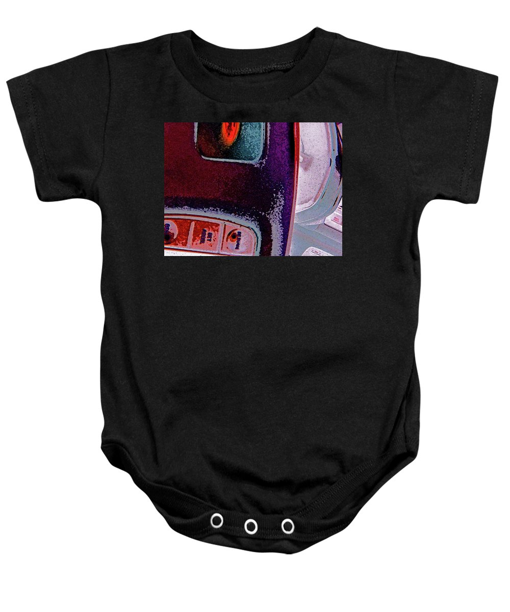 Abstract Baby Onesie featuring the digital art The Accidental Abstract 2 by Lenore Senior