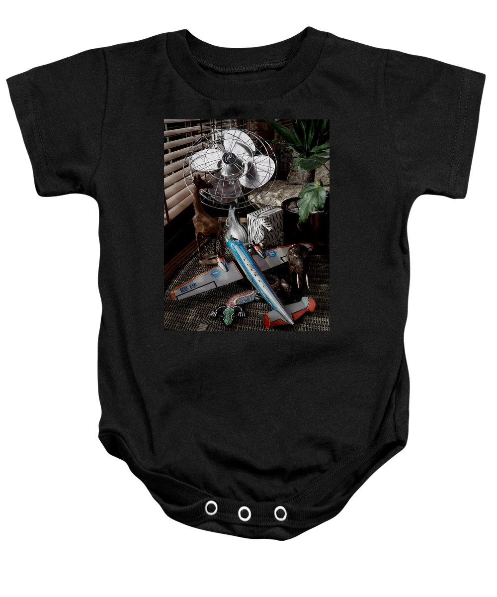 Still Life Baby Onesie featuring the photograph The African Fantasy by Charles Stuart