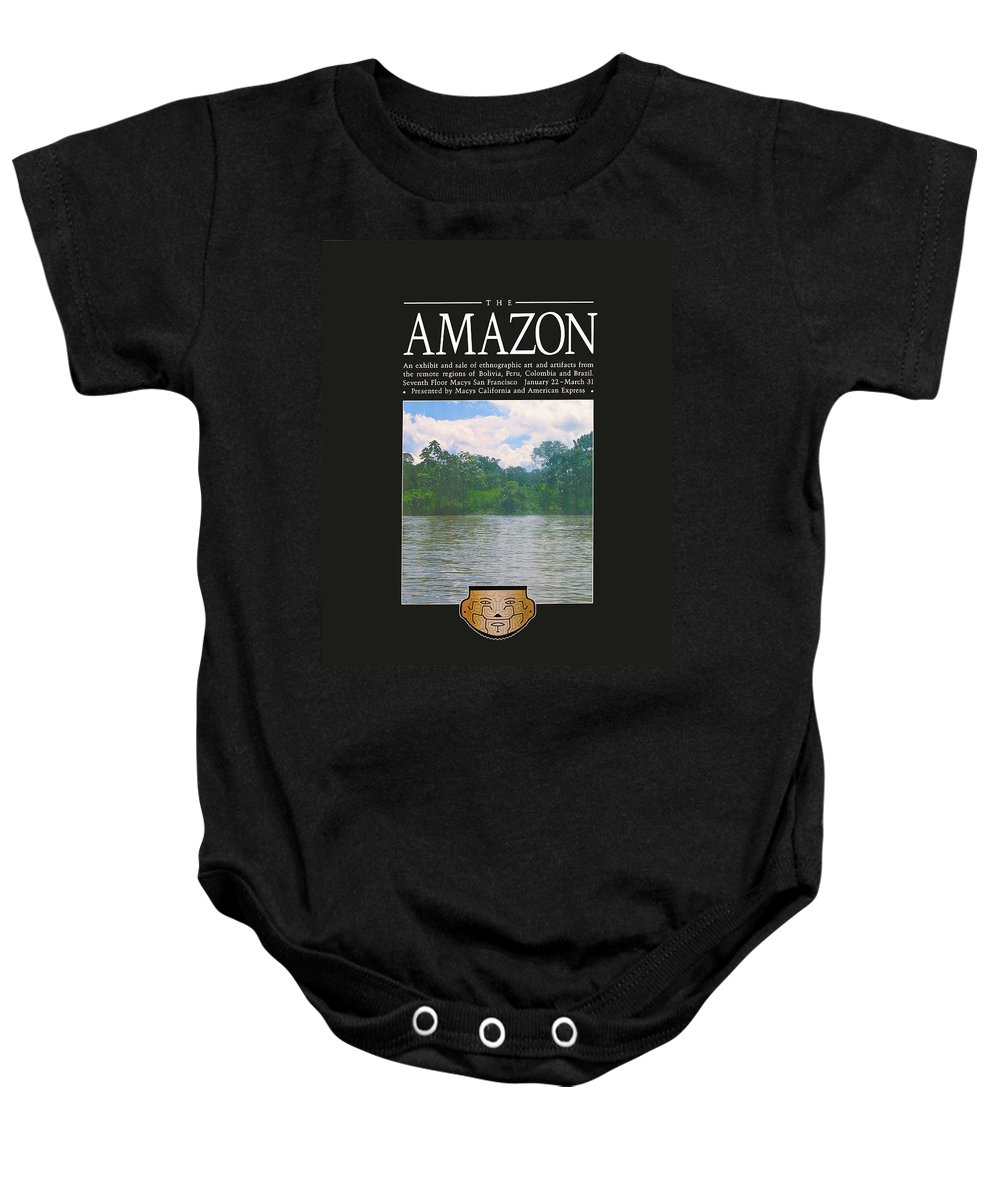 Poster Baby Onesie featuring the photograph The Amazon Exhibit by Richard Nodine
