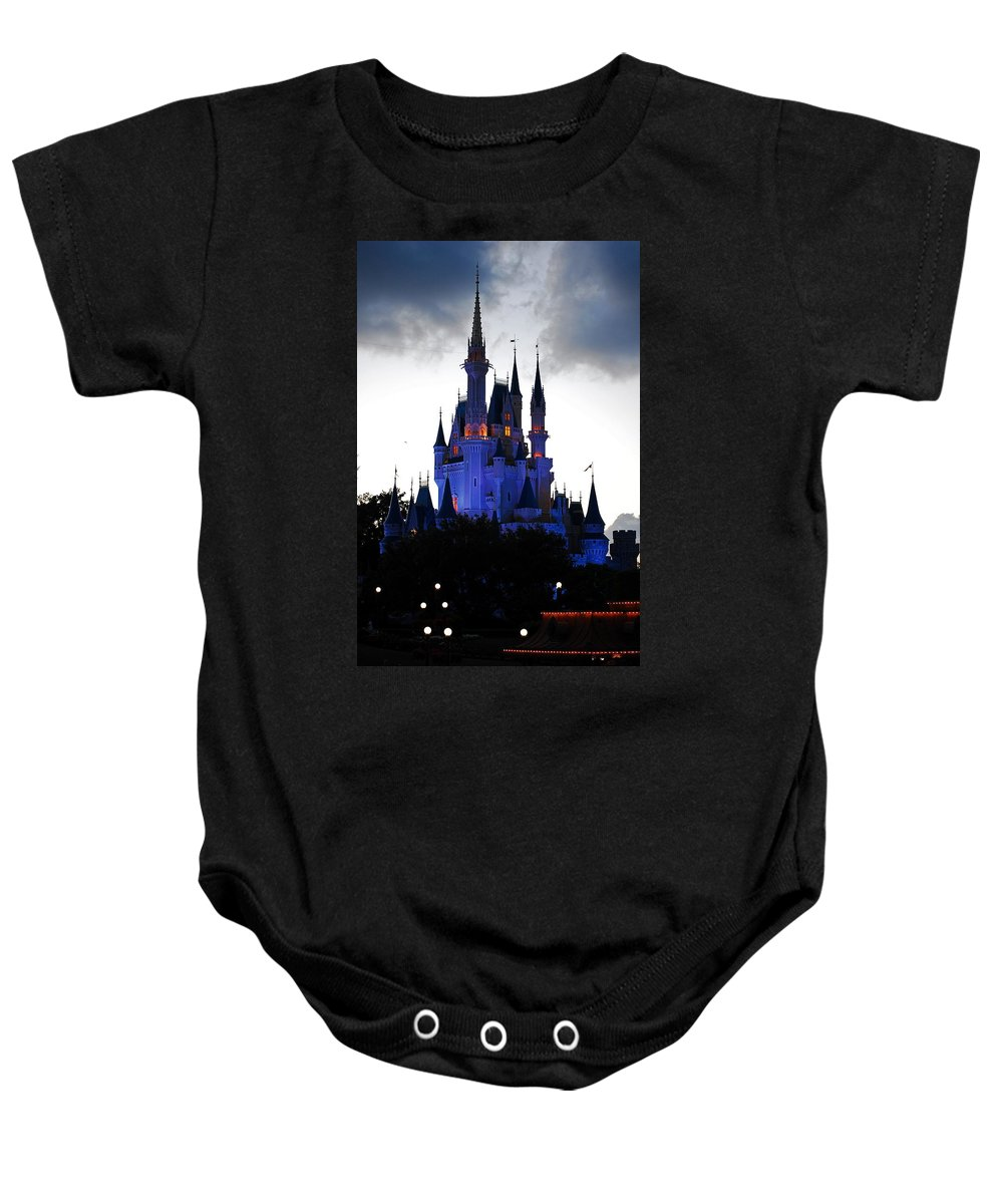 Disney Baby Onesie featuring the photograph The Amethyst Palace by Robert Meanor