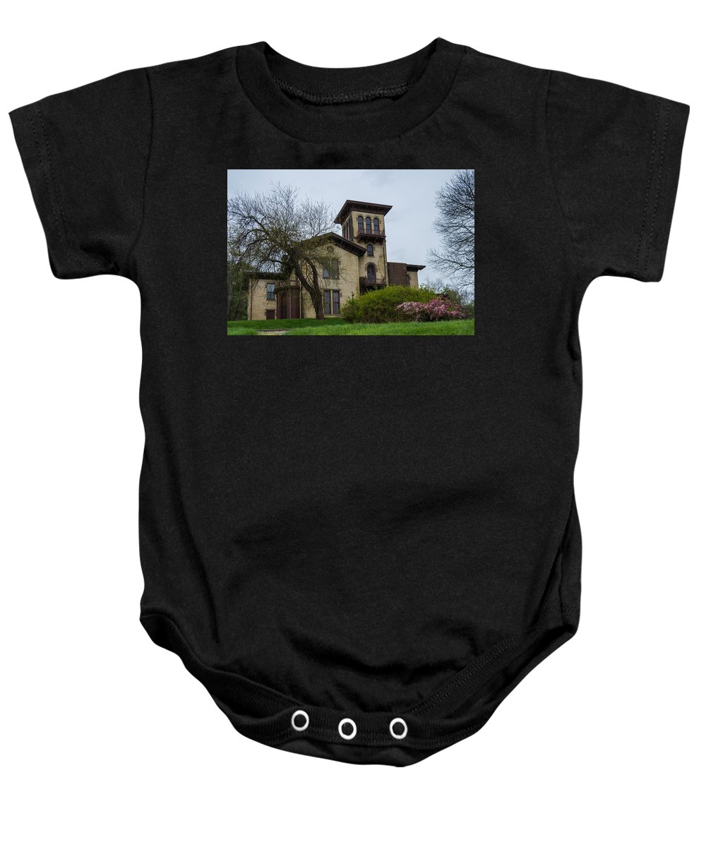Anchorage Baby Onesie featuring the photograph The Anchorage - Putnam Villa by Jan M Holden