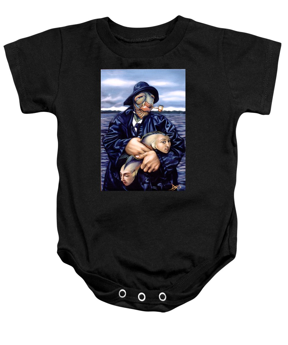 Fisherman Baby Onesie featuring the painting The Ancient Mariner by Patrick Anthony Pierson