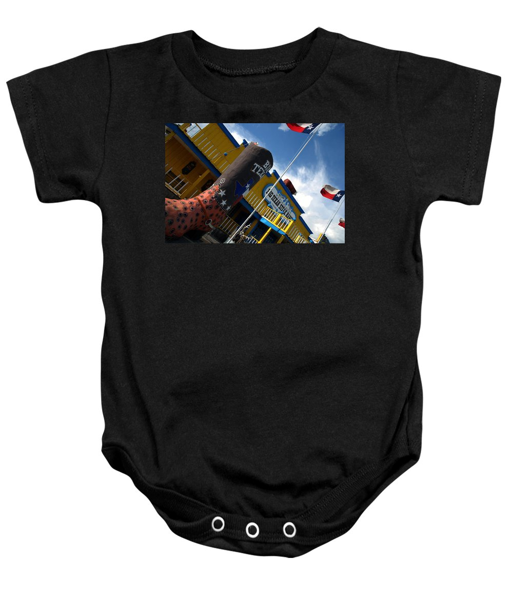 The Big Texan Baby Onesie featuring the photograph The Big Texan II by Susanne Van Hulst
