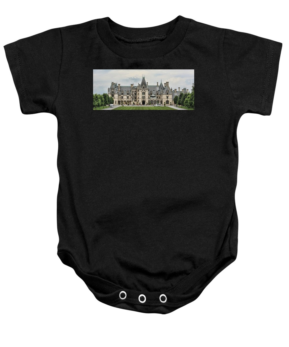 Biltmore Baby Onesie featuring the photograph The Biltmore Estate by Stephen Stookey