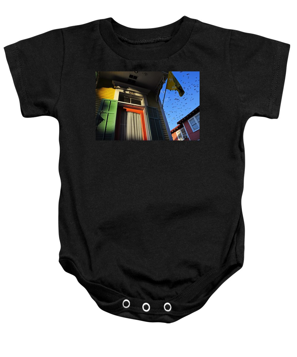 Skip Hunt Baby Onesie featuring the photograph The Birds by Skip Hunt
