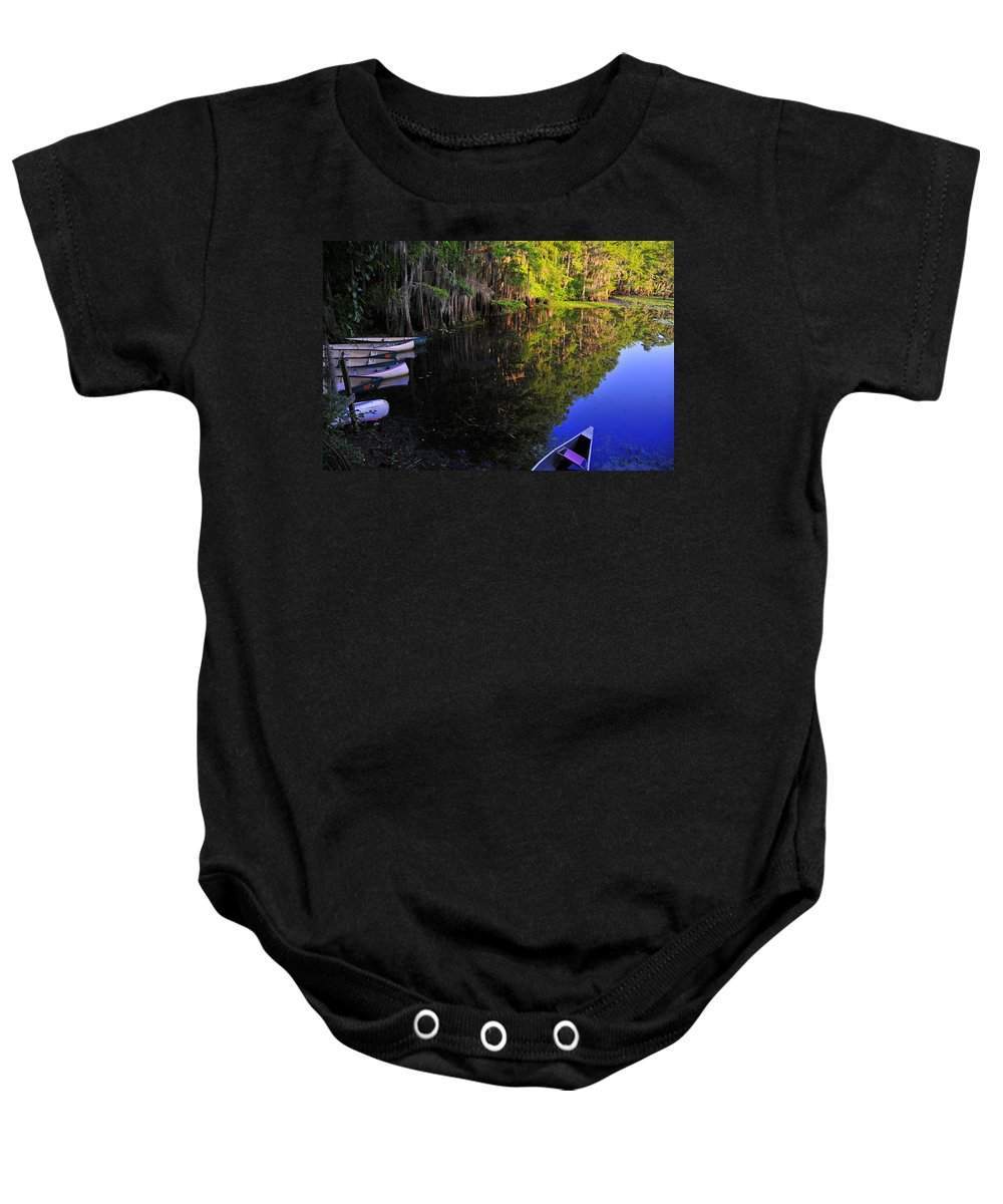 Skip Hunt Baby Onesie featuring the photograph The Black Lagoon by Skip Hunt