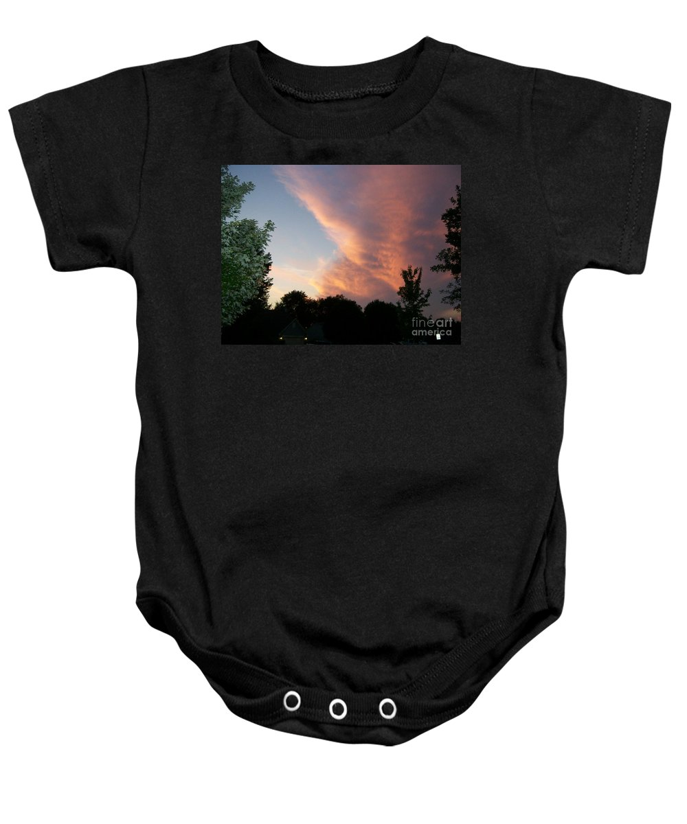 Sky Baby Onesie featuring the photograph The Blanket by Stephen King
