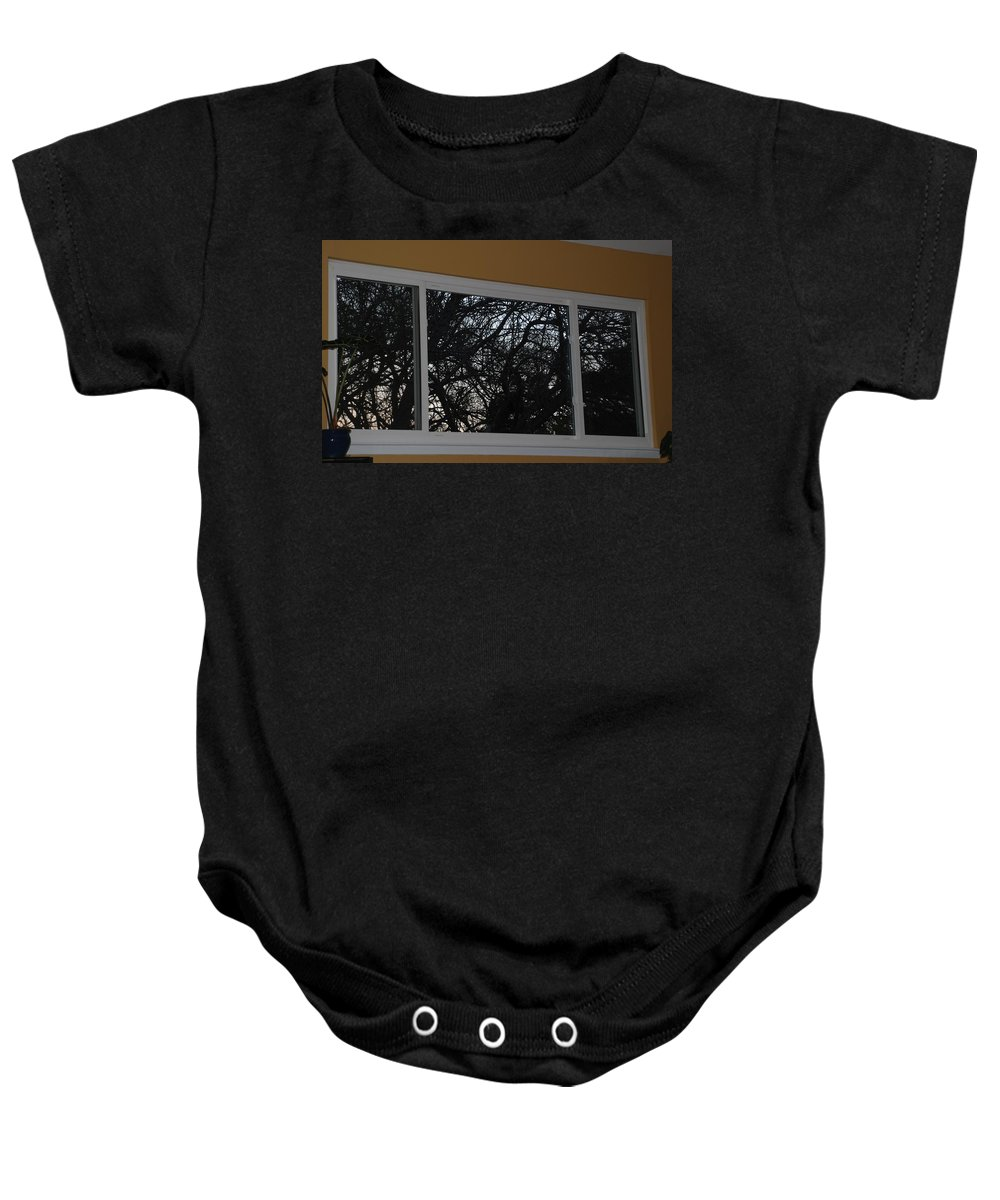 Window Baby Onesie featuring the photograph The Branch Window by Rob Hans
