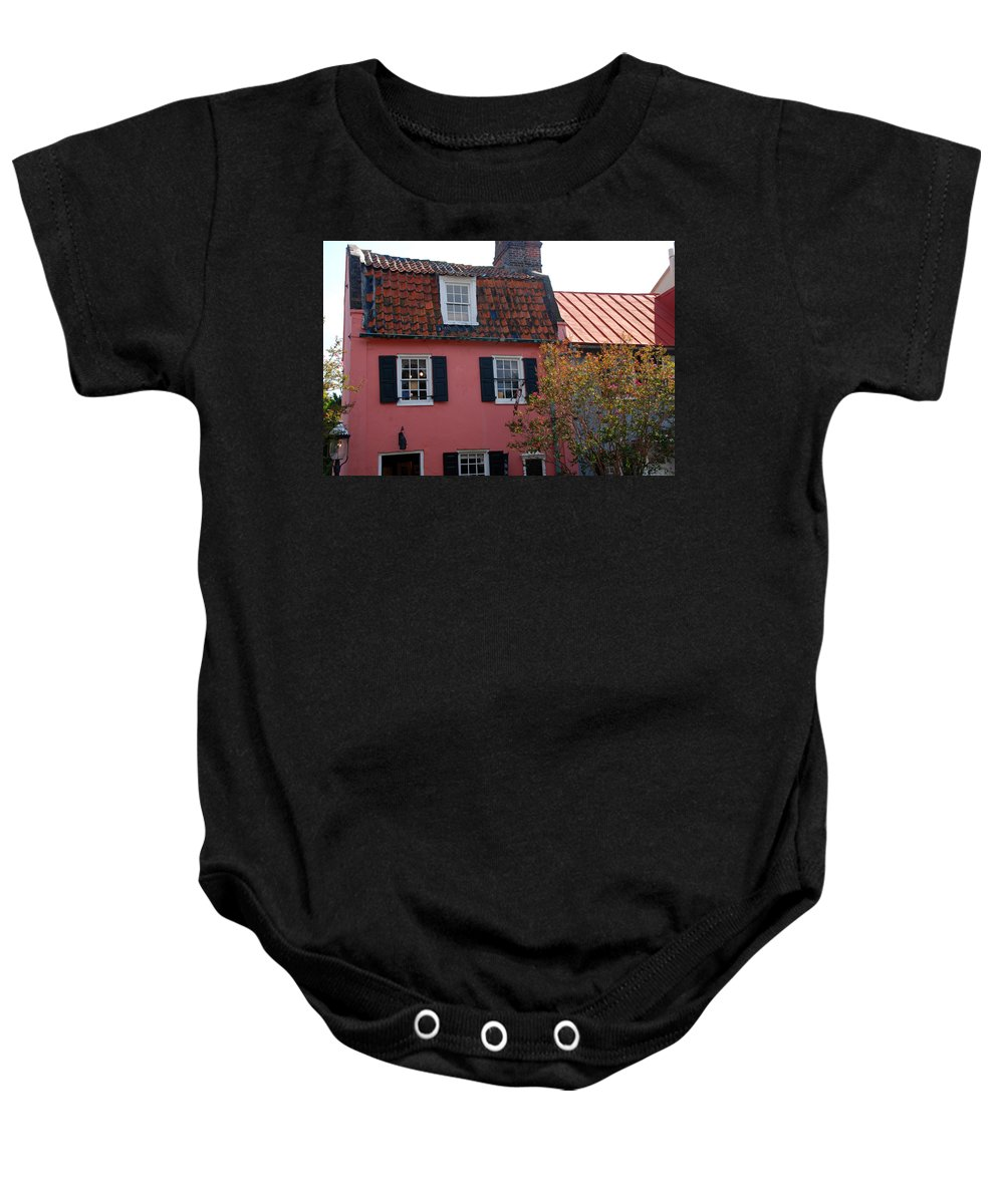 House Baby Onesie featuring the photograph The Charm Of Charleston Sc by Susanne Van Hulst