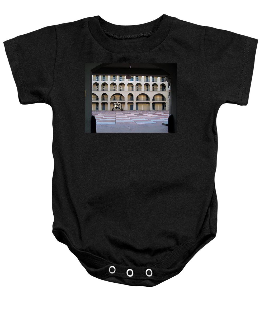Photography Baby Onesie featuring the photograph The Citadel In Charleston Iv by Susanne Van Hulst