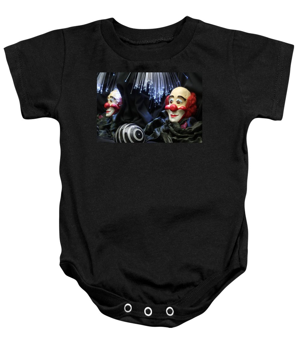 Clown Baby Onesie featuring the photograph The Clown by Manfred Lutzius