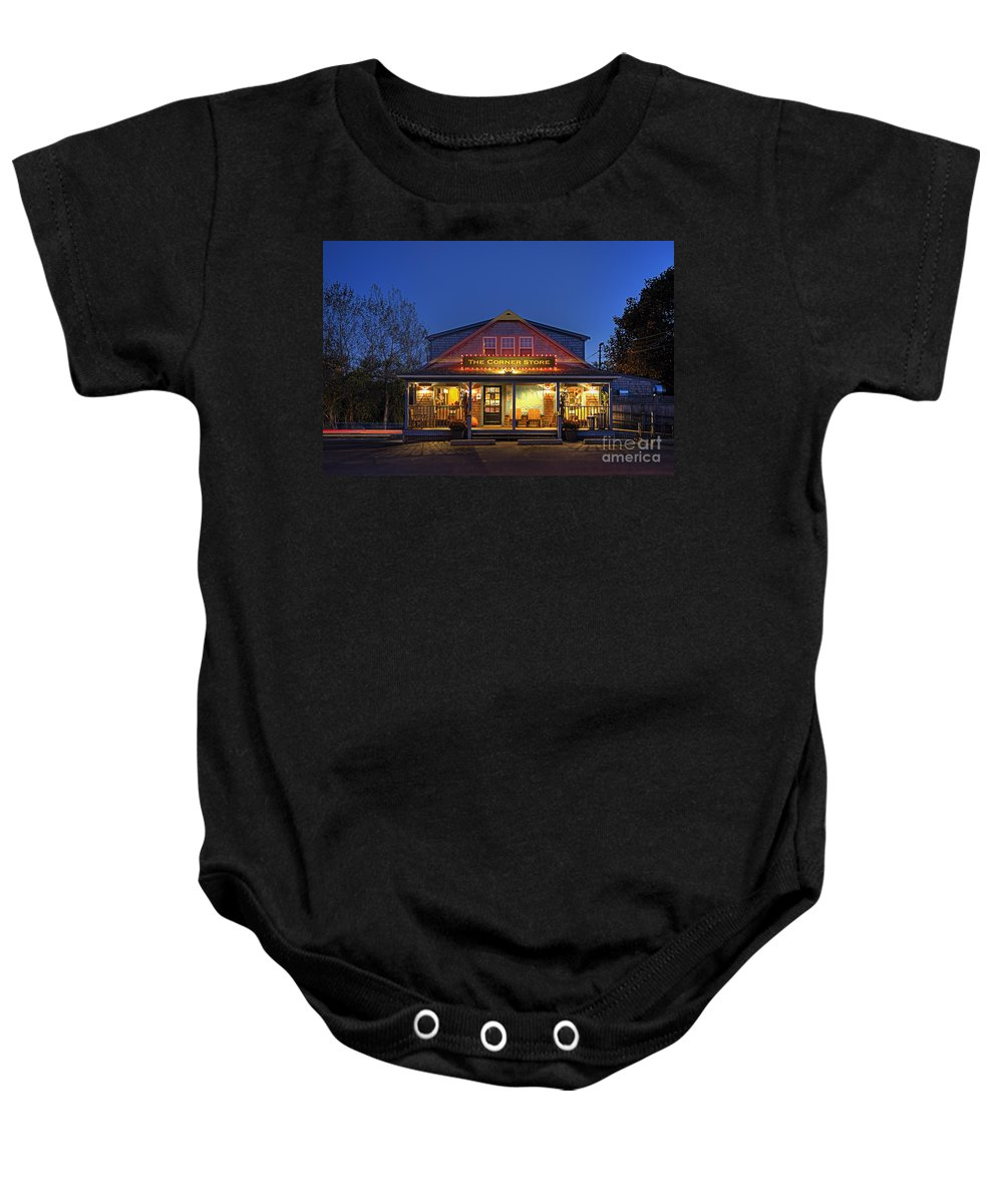 Hdr Baby Onesie featuring the photograph The Corner Store by John Greim