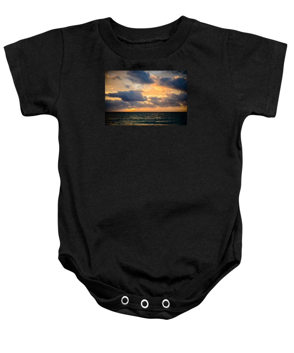 Hawaii Baby Onesie featuring the photograph The Dark Sea by Michael Scott
