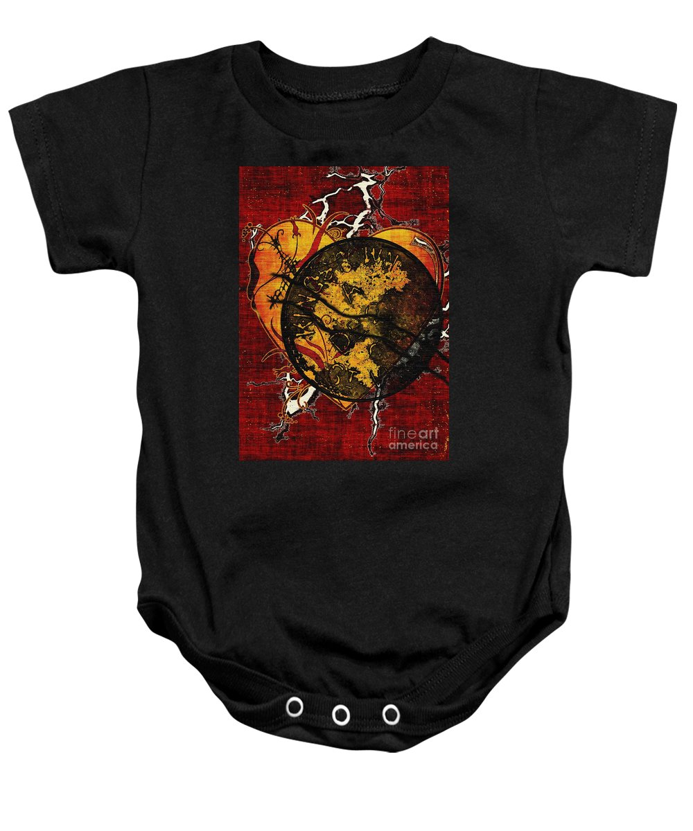 Abandonment Baby Onesie featuring the painting The Day You Left Me by RC DeWinter