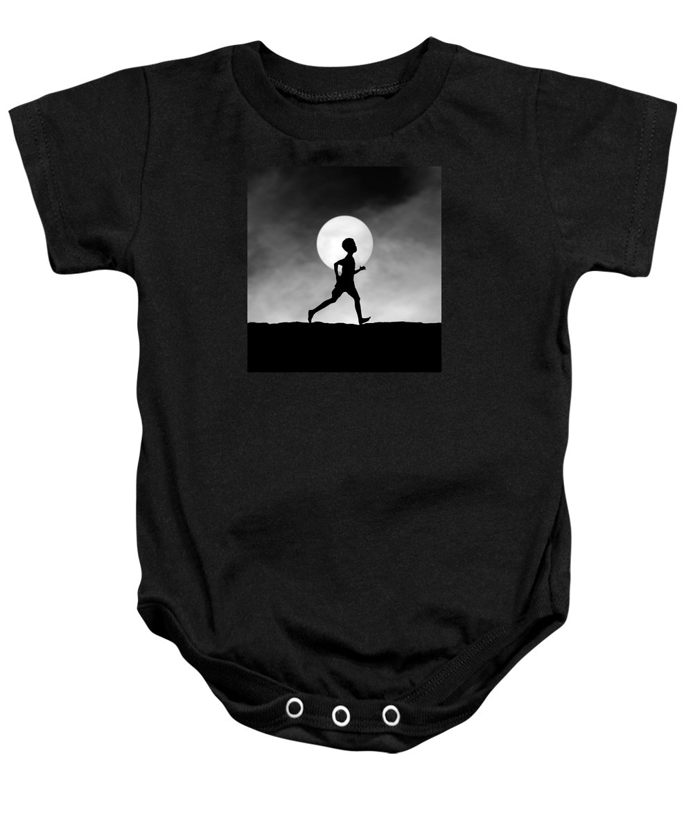 Conceptual Baby Onesie featuring the photograph The Dream Catcher by Hengki Lee