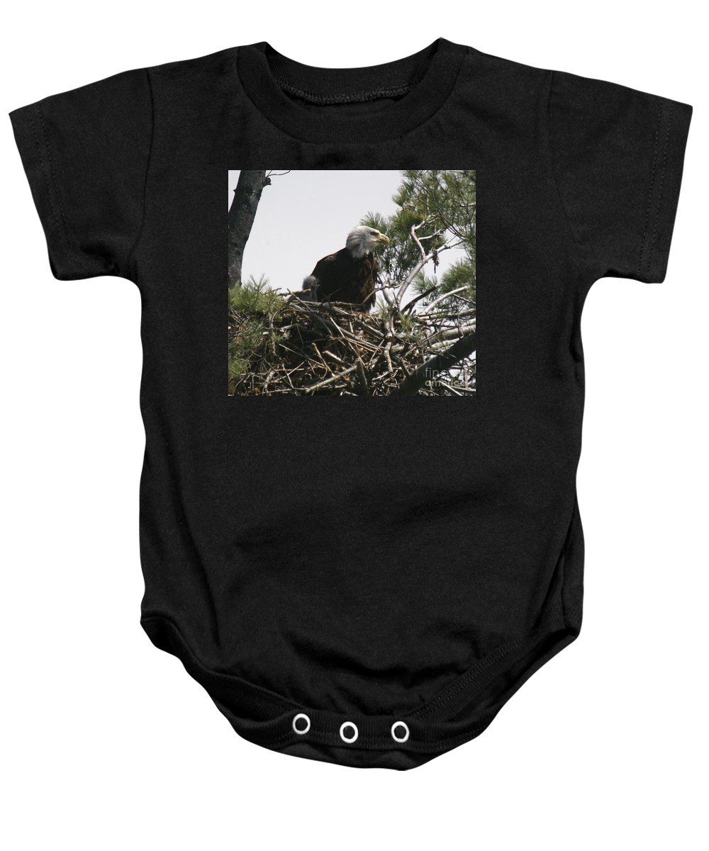 Eagle Baby Onesie featuring the photograph The Eagle Eye by Robert Pearson