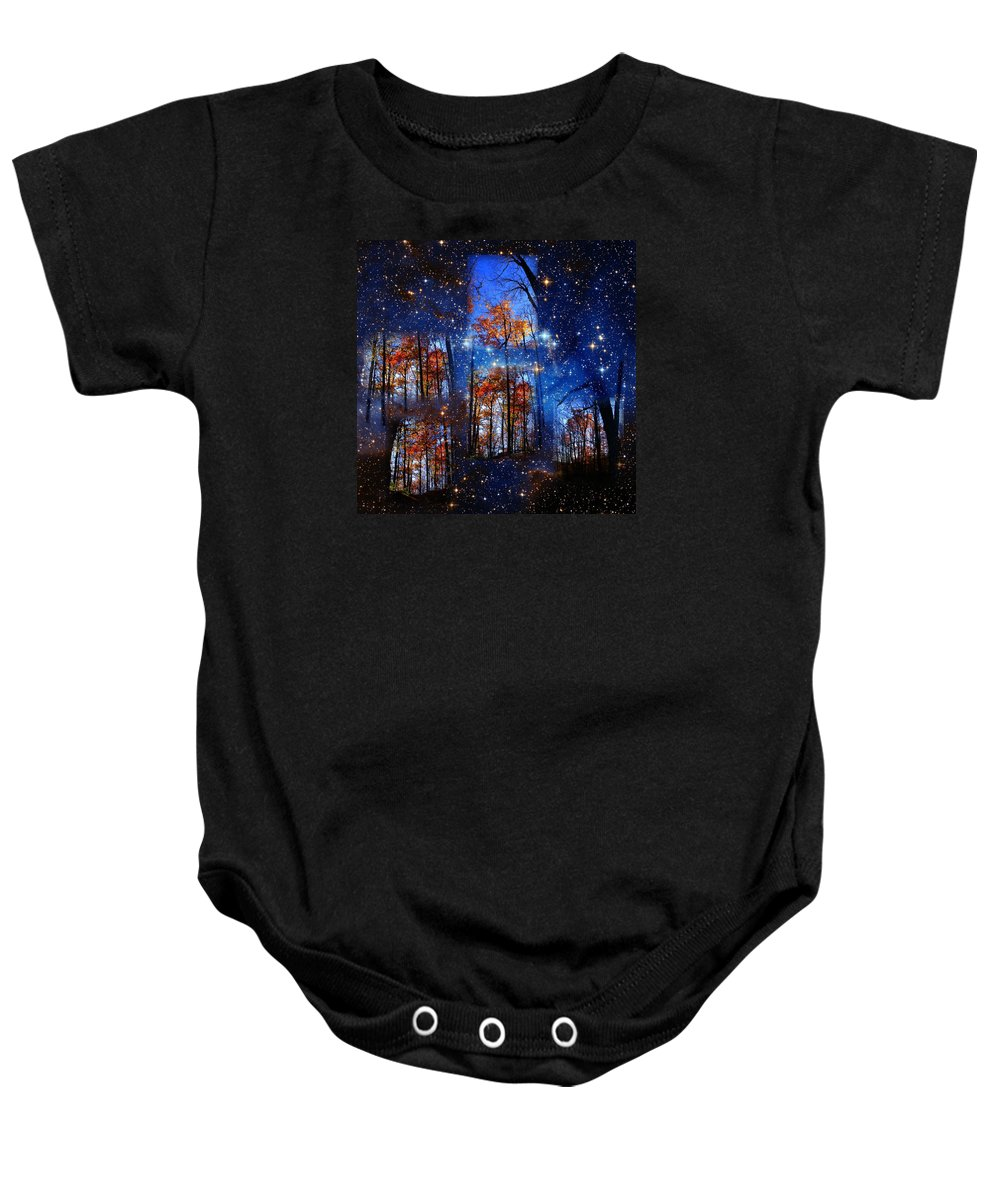 Deep Space Baby Onesie featuring the photograph The Face Of Forever by Dave Martsolf