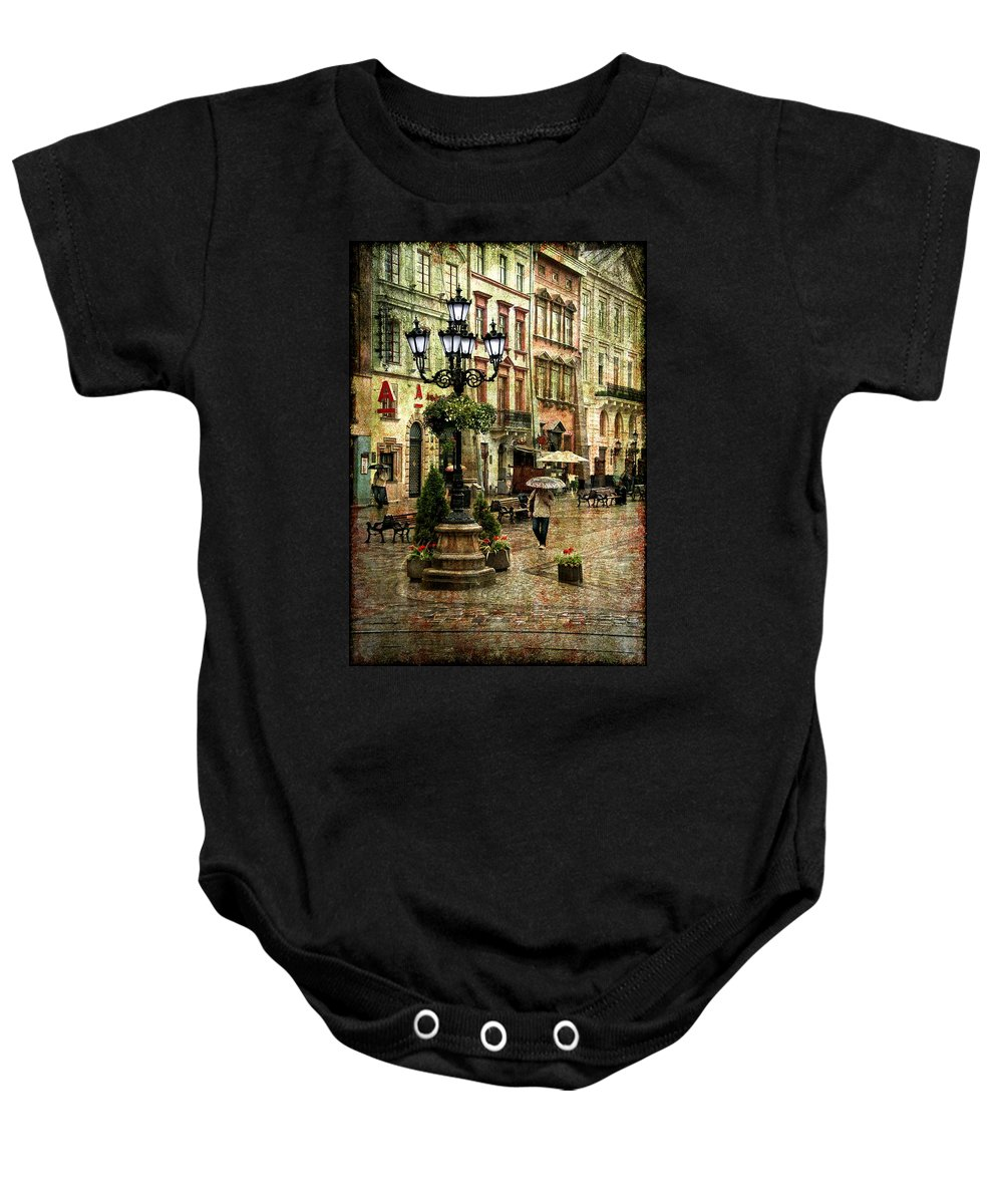 City Baby Onesie featuring the photograph The Fall Of Spring by Evelina Kremsdorf