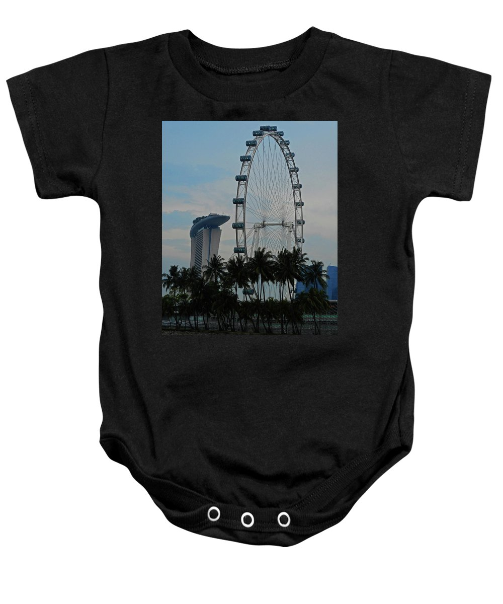 Singapore Baby Onesie featuring the photograph The Ferris Wheel 3 by Ron Kandt