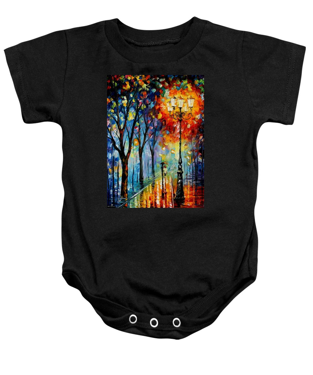 Afremov Baby Onesie featuring the painting The Fog Of Dreams by Leonid Afremov