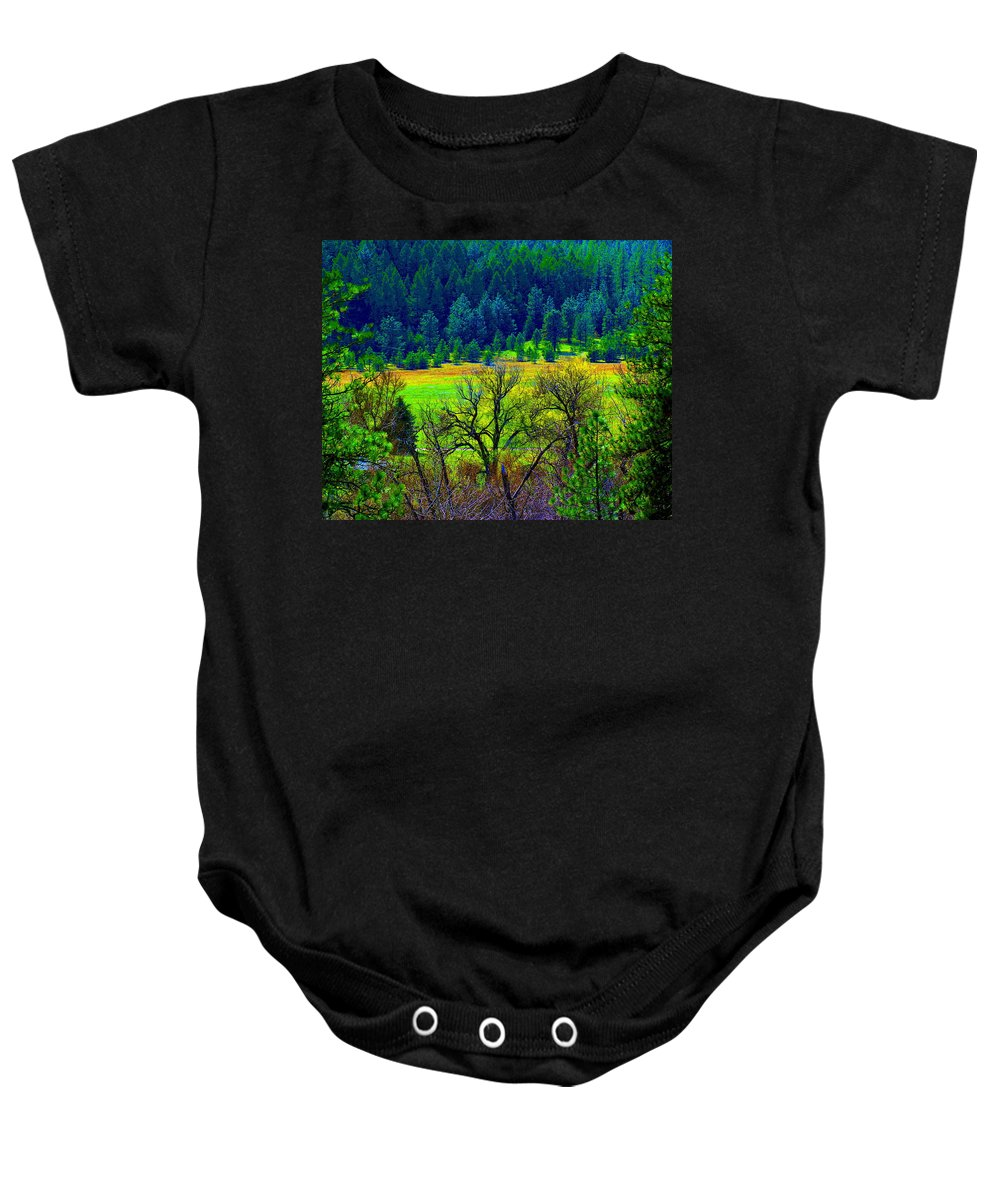 Photo Art Baby Onesie featuring the photograph The Forest Echoes With Laughter 2 by Ben Upham III