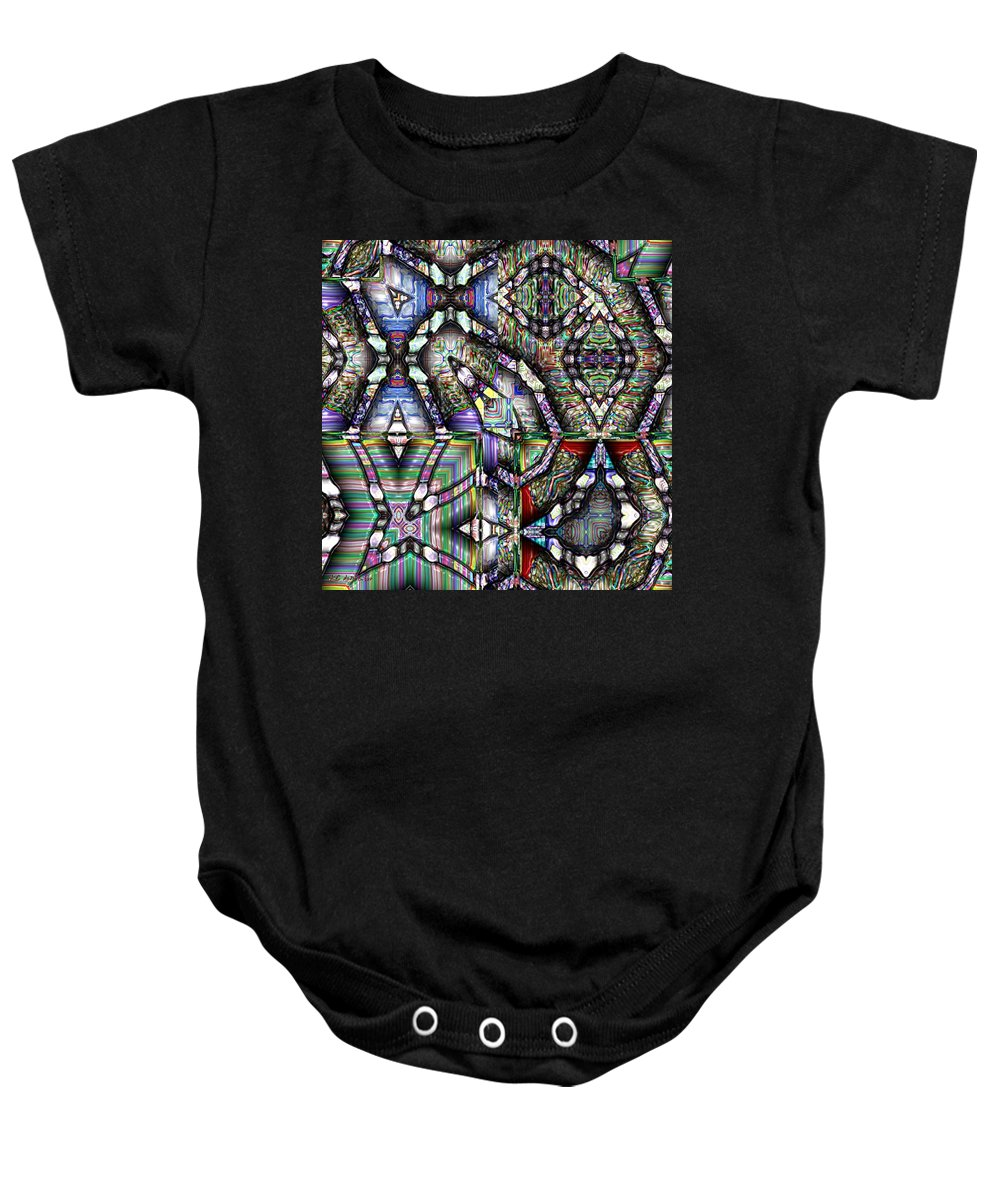 Abstract Baby Onesie featuring the painting The Four Horsemen Of The Apocalypse by RC DeWinter