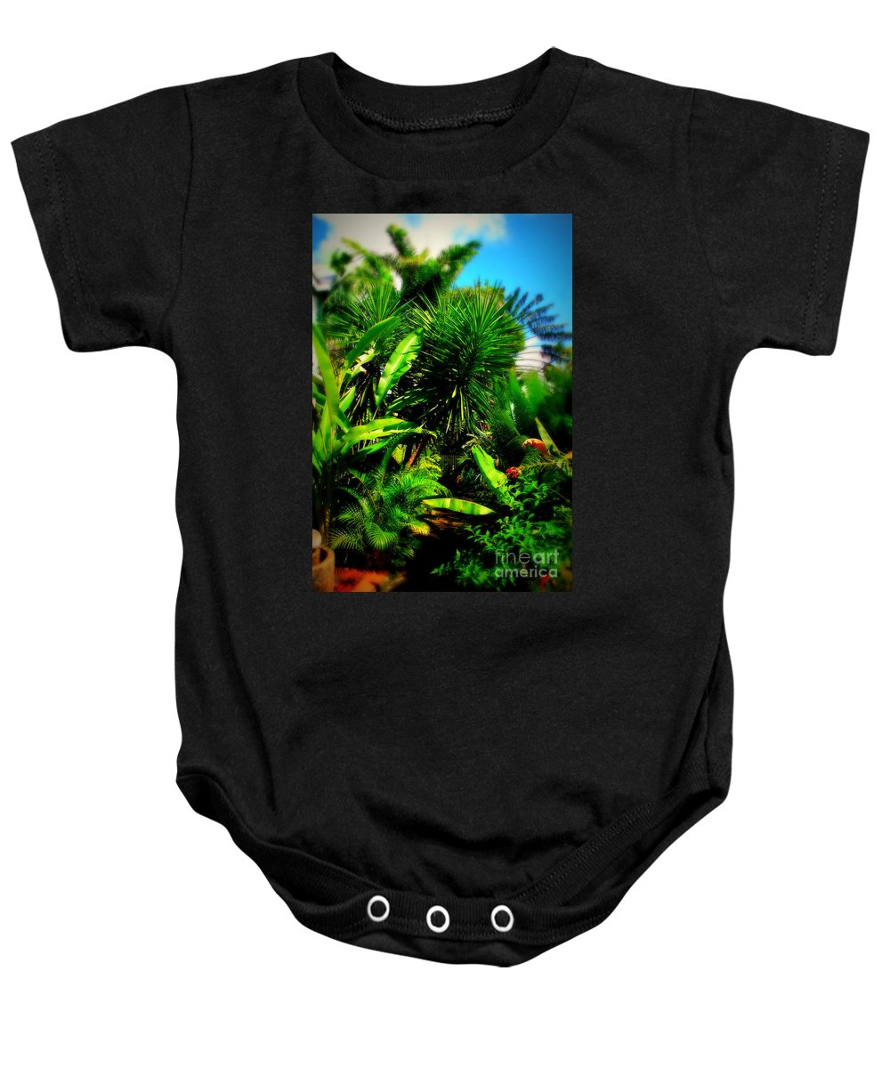 Plant Baby Onesie featuring the photograph The Garden Path by Perry Webster