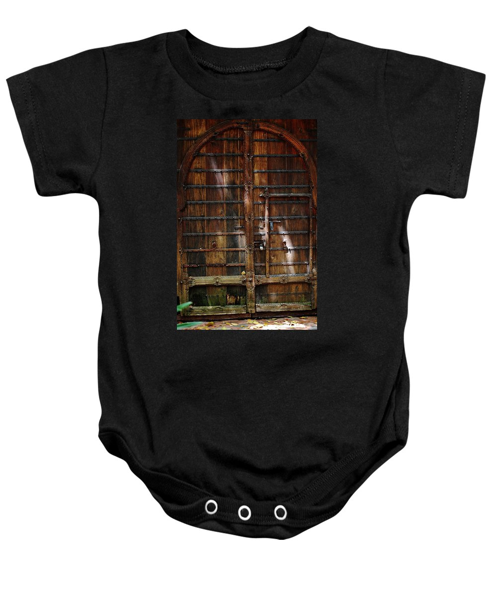 The Gate Baby Onesie featuring the photograph The Gate by Robert Meanor