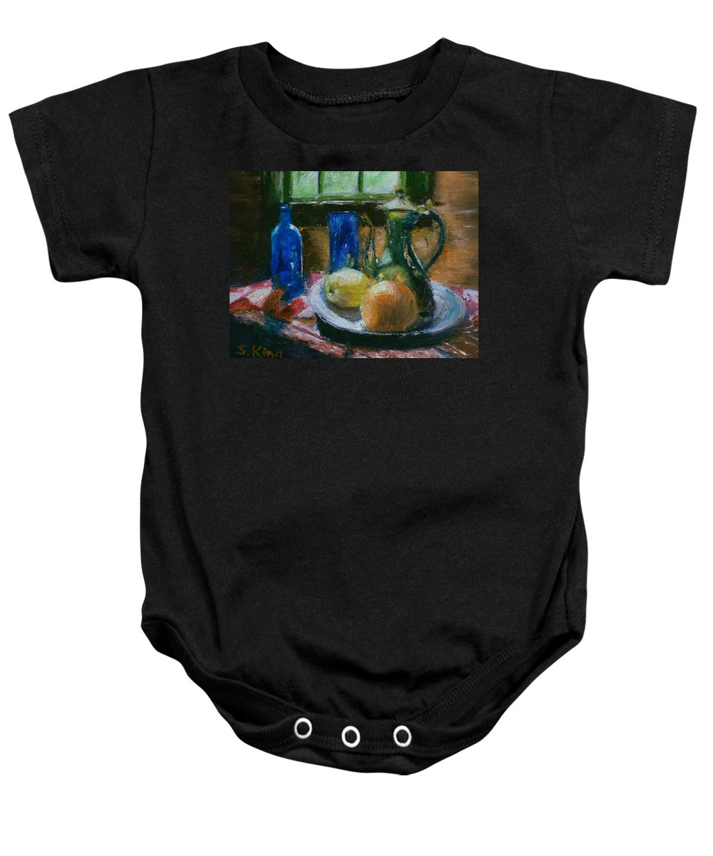 Origianl Baby Onesie featuring the painting The Gathering by Stephen King