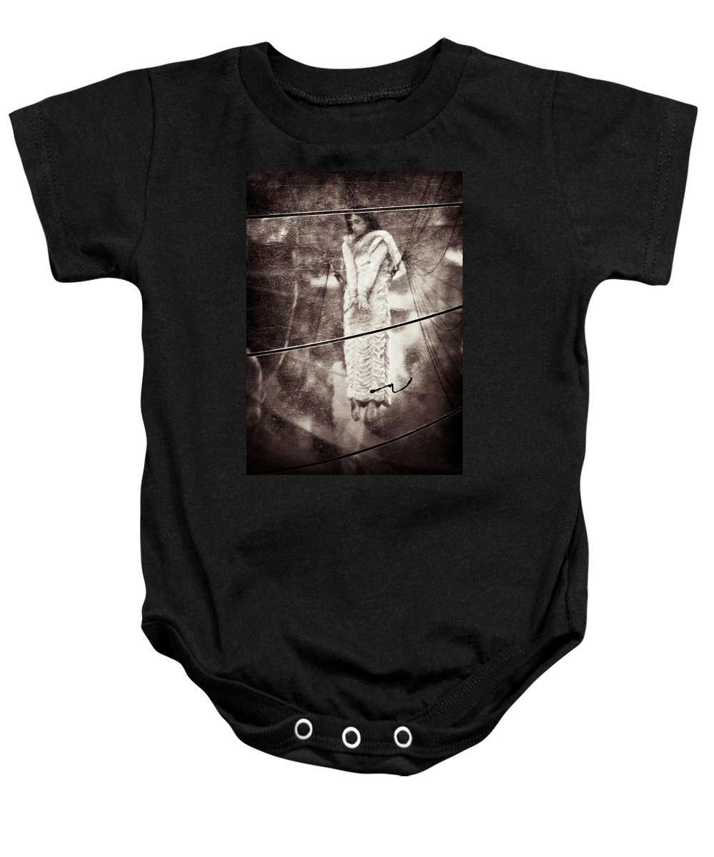 Girl Baby Onesie featuring the photograph The Girl In The Bubble by Dave Bowman