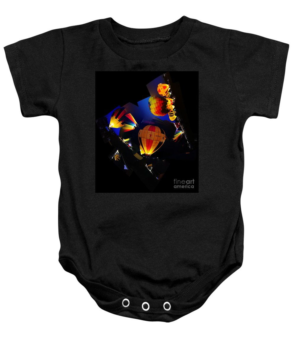 Clay Baby Onesie featuring the photograph The Glow by Clayton Bruster