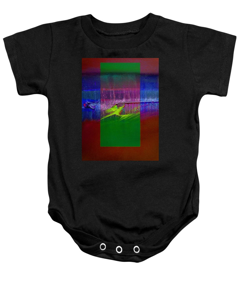 Landscape Baby Onesie featuring the painting The Green Dragon by Charles Stuart