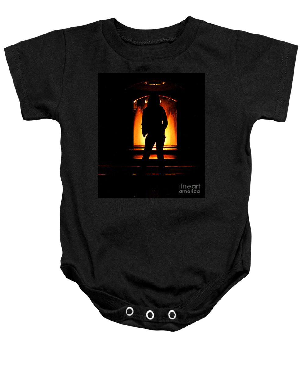 Clay Baby Onesie featuring the photograph The Guardian by Clayton Bruster