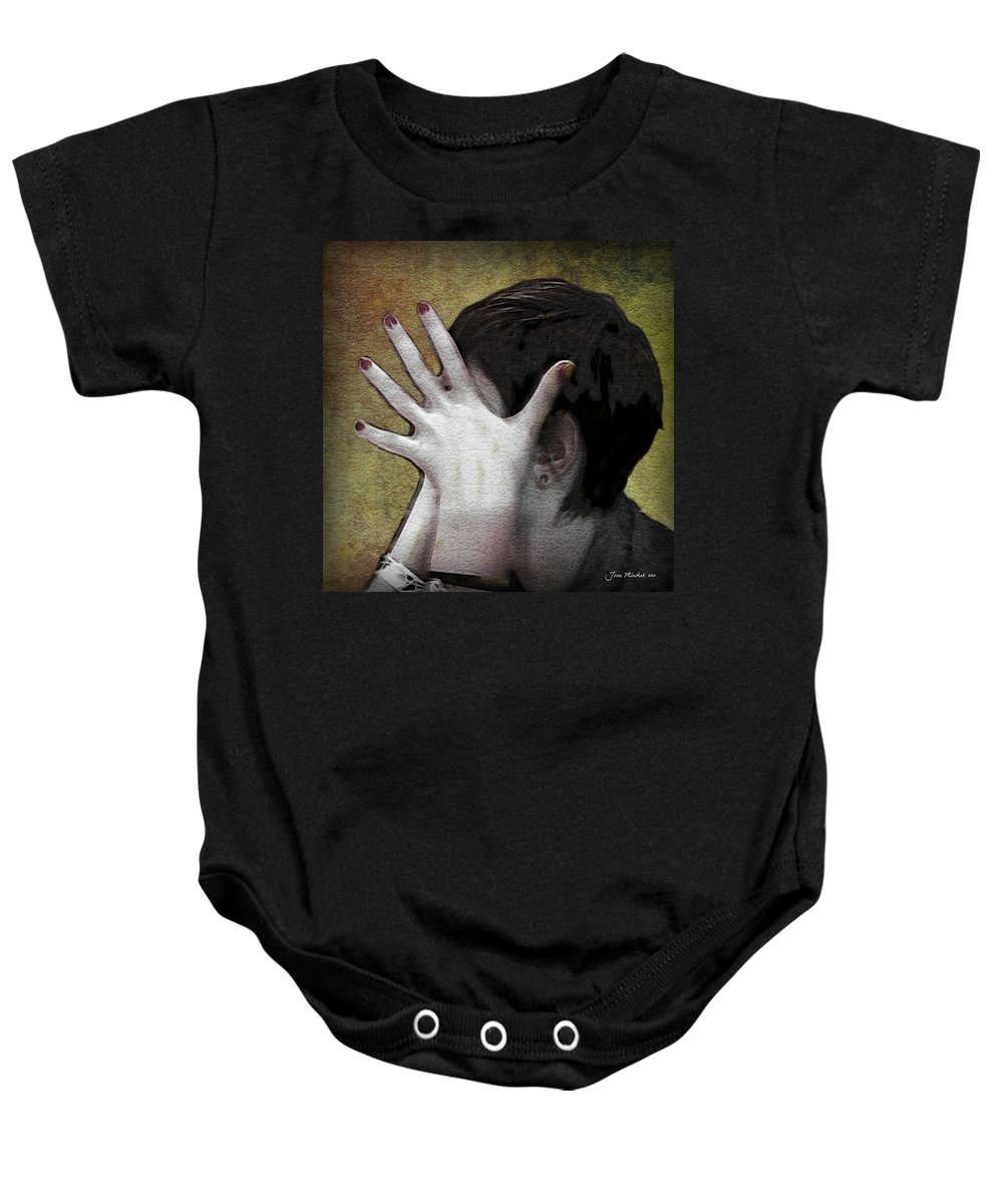 Portrait Baby Onesie featuring the photograph The Hand by Joan Minchak