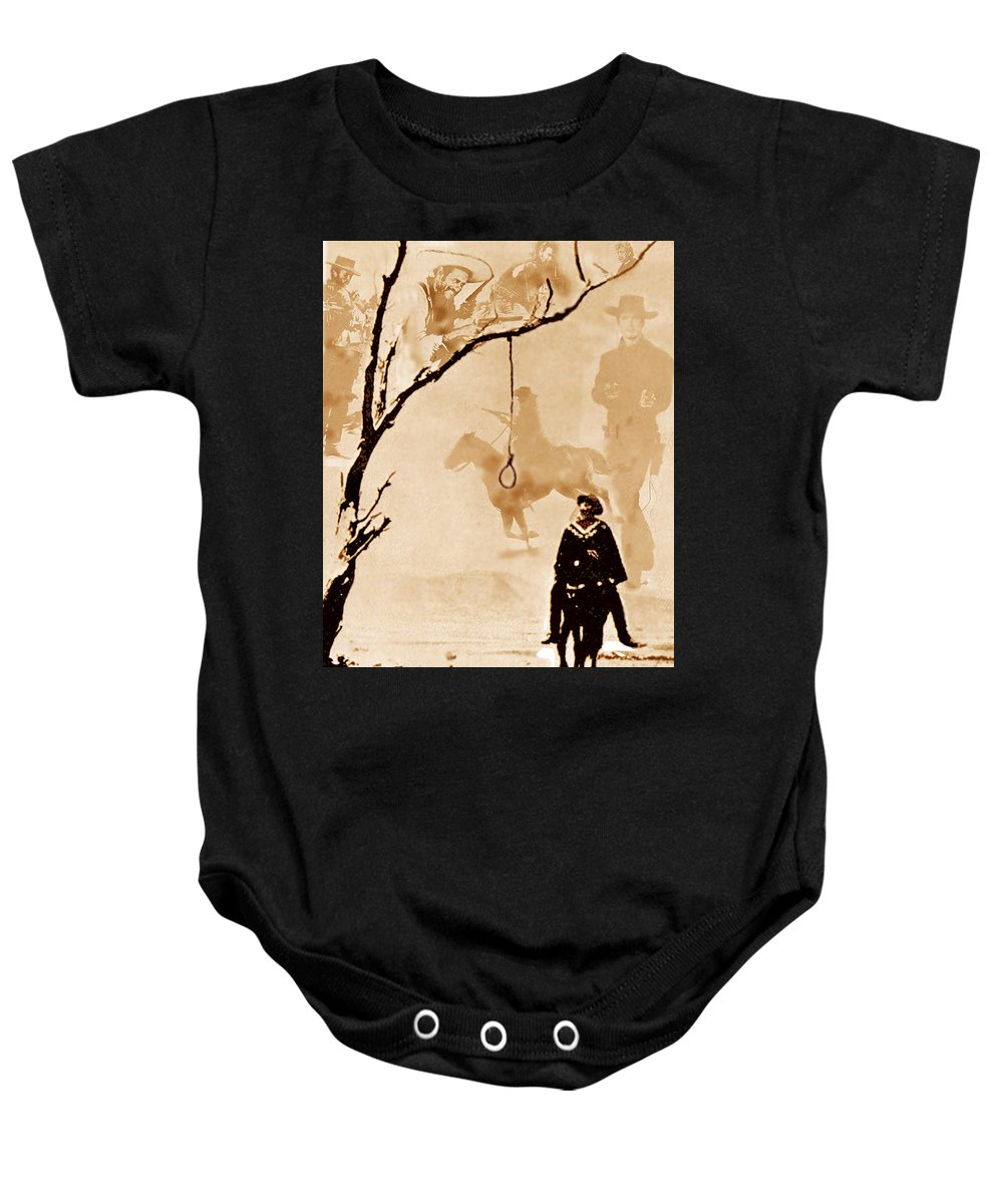 Clint Eastwood Baby Onesie featuring the digital art The Hangman's Tree by Seth Weaver