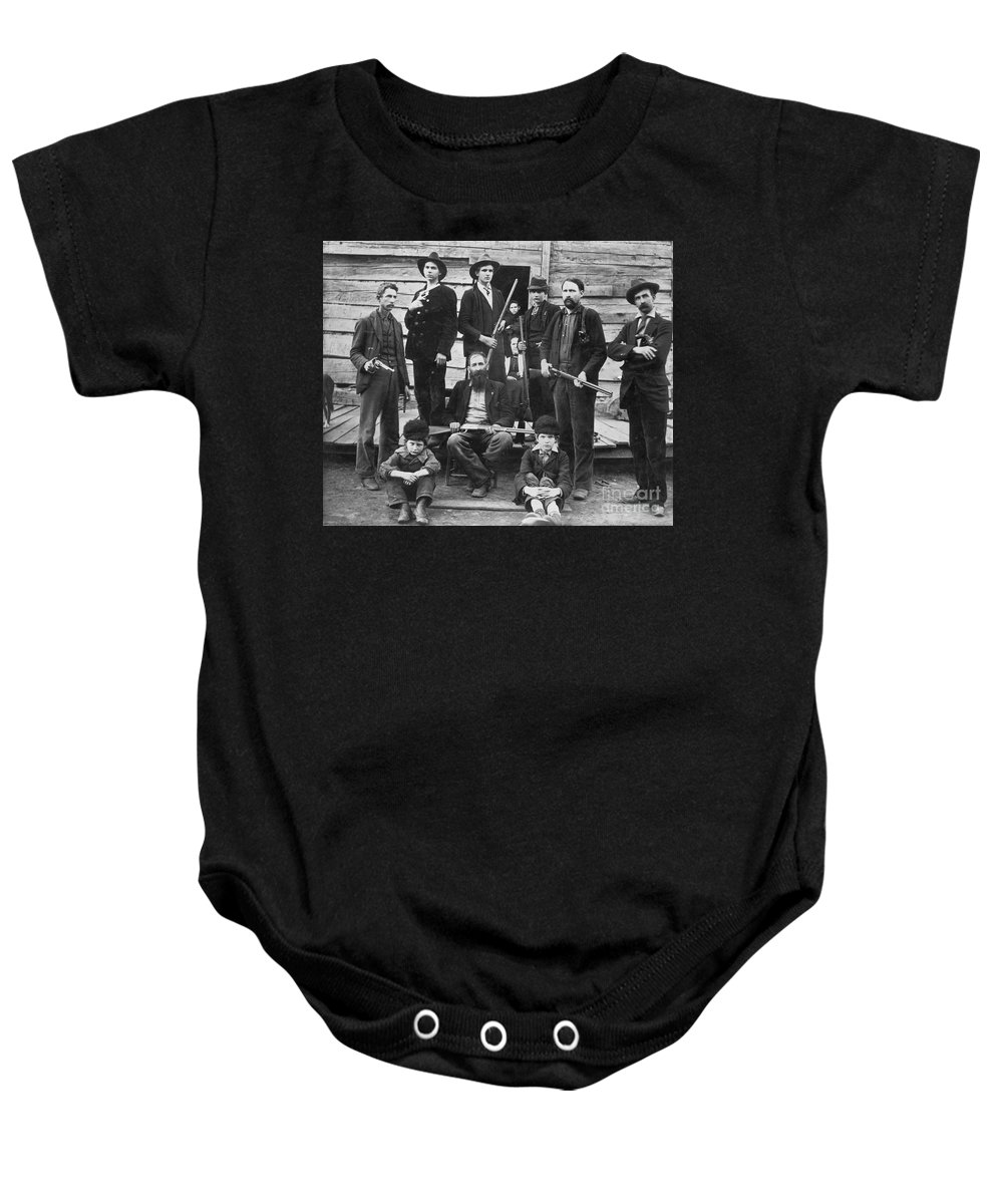 1899 Baby Onesie featuring the photograph The Hatfields, 1899 - To License For Professional Use Visit Granger.com by Granger