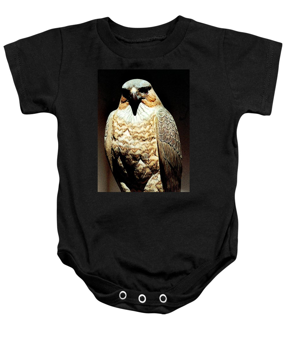 Birds Baby Onesie featuring the painting The Hawk by Paul Sachtleben