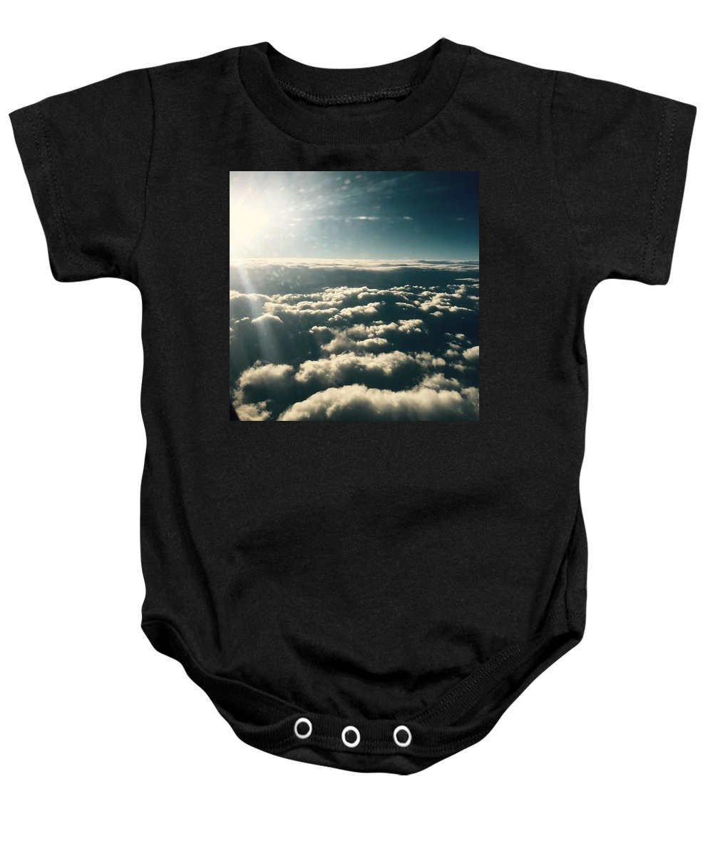 Clouds Baby Onesie featuring the photograph The Heavens by Nicole Prohaska