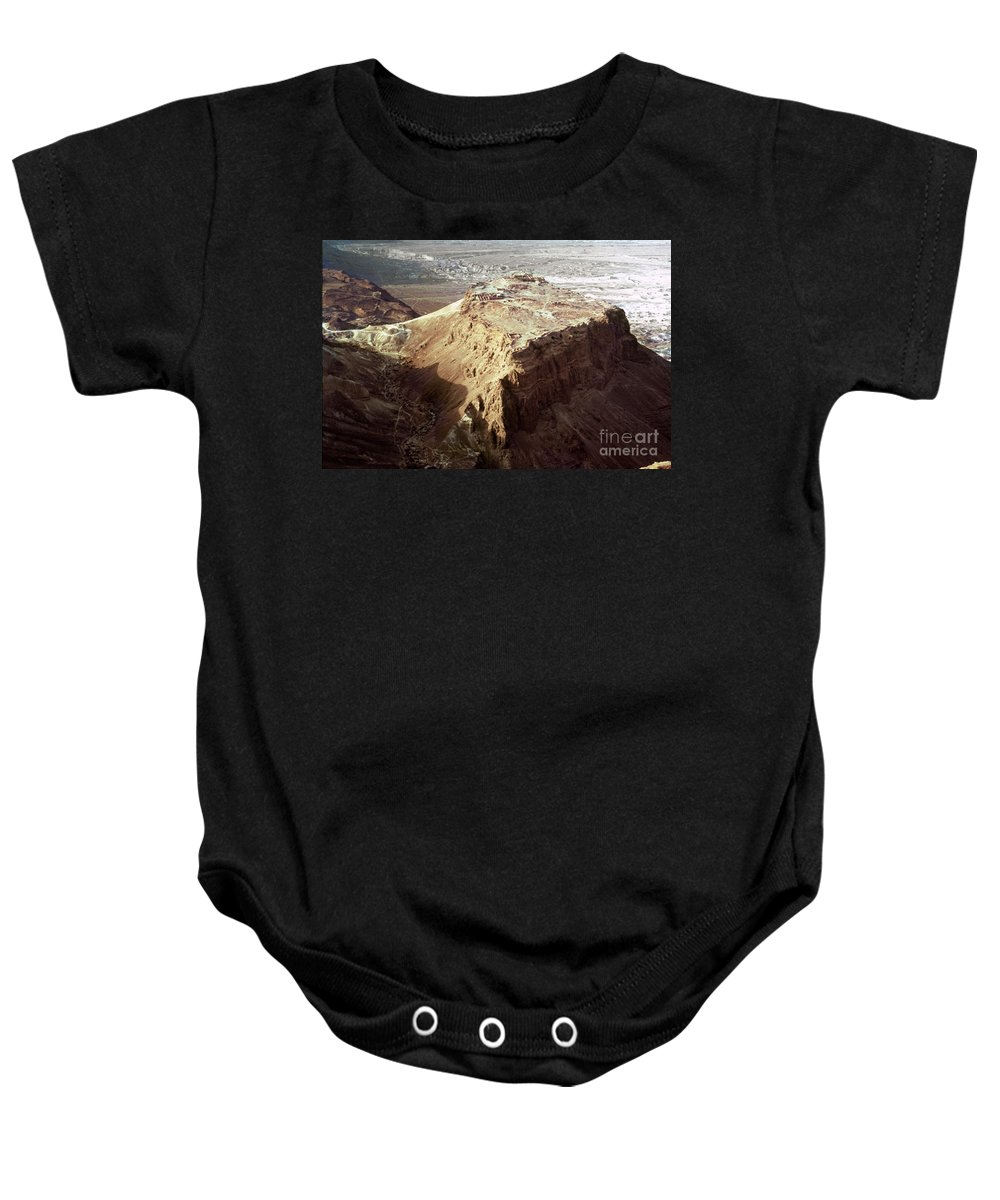 20th Century Baby Onesie featuring the photograph The Holy Land: Masada by Granger