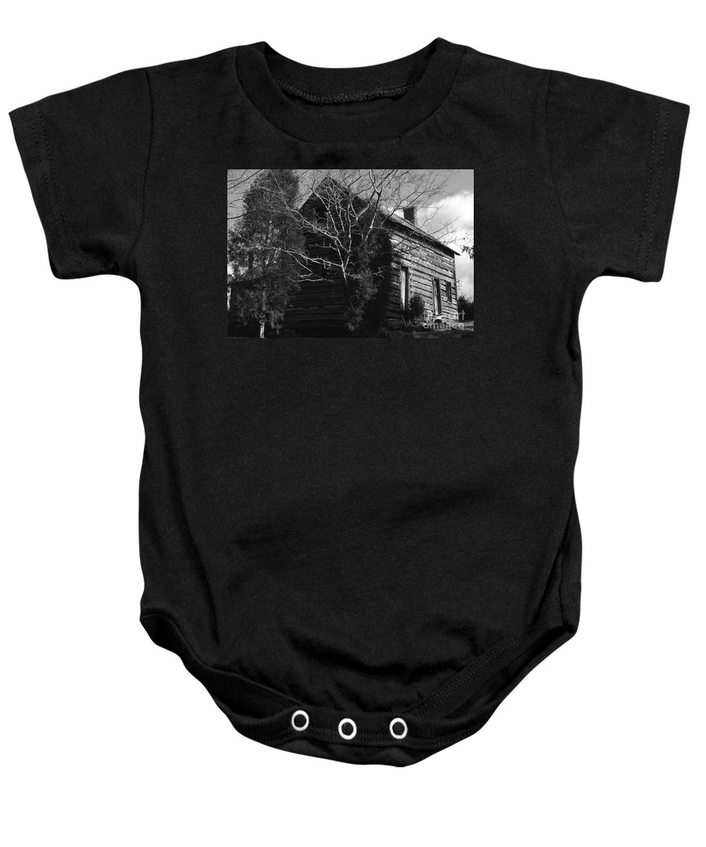 Cabins Baby Onesie featuring the photograph The Homestead by Richard Rizzo