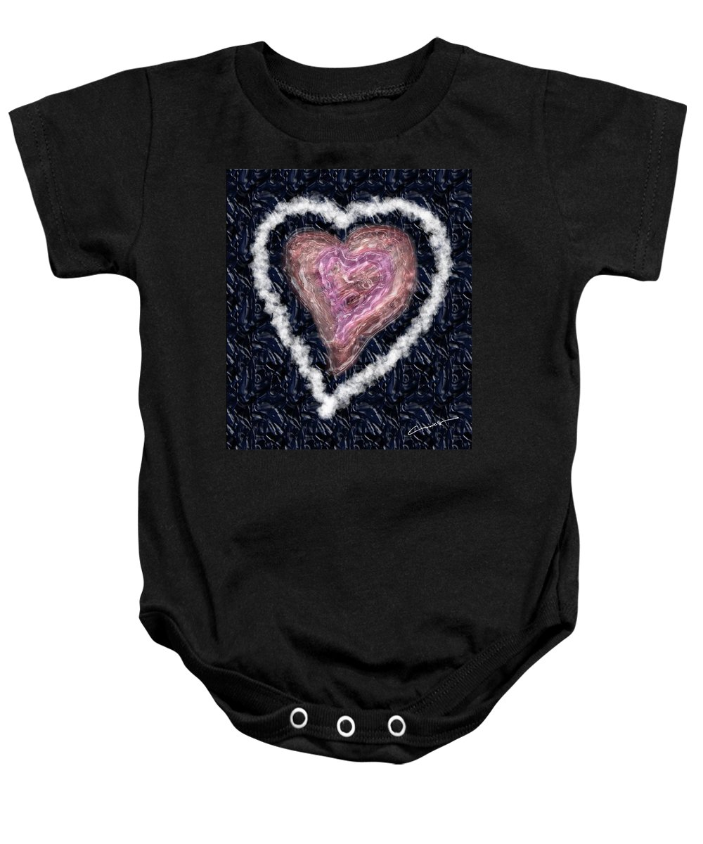 Love Baby Onesie featuring the digital art The Imperfection Of A Perfect Love by Michael Hurwitz